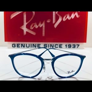 Ray-Ban Eyeglasses Transparent blue w/ Silver New